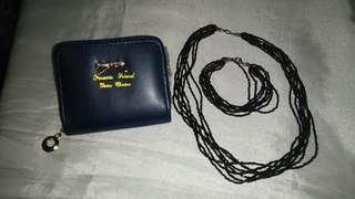 Short wallet + Fashion Necklace&Bracelet Set
