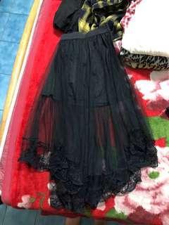🚚 黑/白紗裙