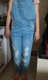 Overall jeans maxis
