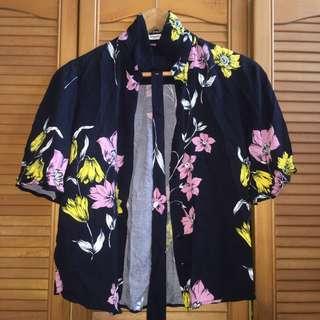 Mango Floral Top Outwear
