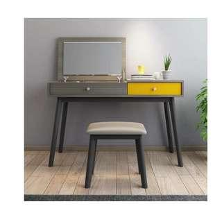 Nordic Style Vanity Table with Stool