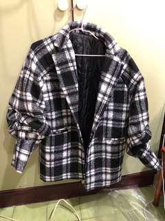 🚚 全新鋪棉格紋外套