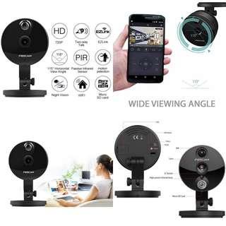 家庭嬰兒寵物IP Cam FOSCAM C1 無線Wifi攝影機 美國名牌 多功能 收音對講夜視 移動偵測 哭聲偵測 防盜監控