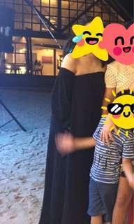 Black Off Shoulder Maxi Dress