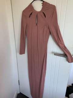 Long turtleneck bodycon dress