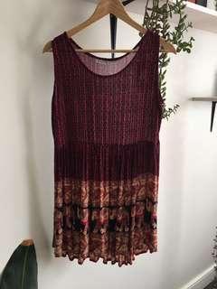 Elephant patterned summer dress