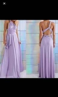 Multi way lavander dress