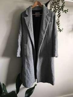 ZARA - grey coat **free shipping on this item**