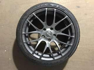 """🚚 18"""" Inch Germany  Breyton Rim and 2 free Tires / Tyres"""