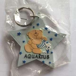 (包郵)Forever Friends小熊 水瓶座 Aquarius星星鎖匙扣 Hallmark 經典 全新