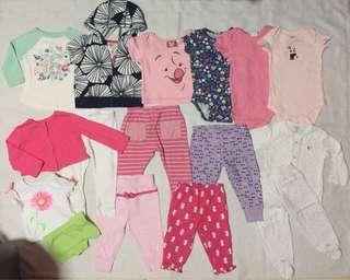 Preloved baby clothes 9m