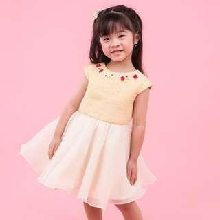 Dress anak, baju anak yellow sunshine