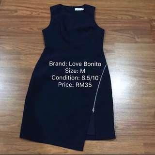 Love Bonito Navy Blue Dress in Size M