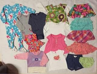 Preloved clothes for baby girl 12m