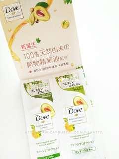 🚚 DOVE 日本植萃防斷柔韌洗髮露+潤髮乳