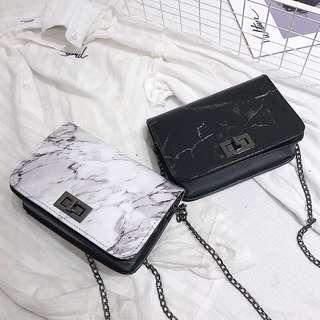 🚚 #743 Basic Marble Sling Bag (PO)
