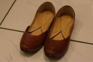 🚚 印度真皮鞋 娃娃鞋 vintage