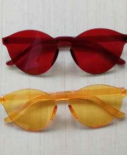 CLEAR GLASSES (RED/YELLOW)