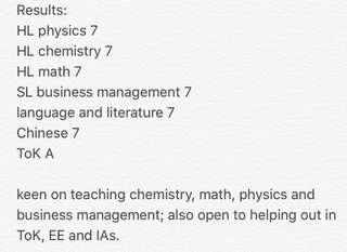 ACS (Independent) IB notes; EE ToK help