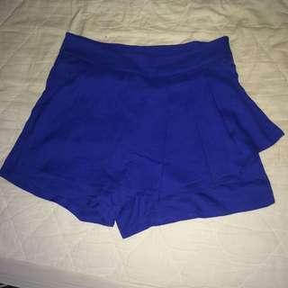 Royal blue Skort (Skirt front shorts)