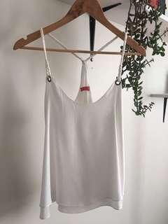 White cami / singlet