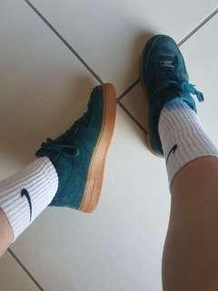 Green Nike Air Force 1's