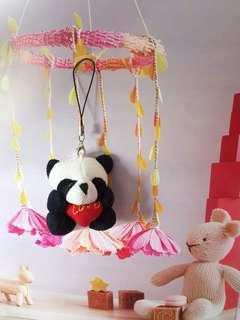 Cute Little Bear Lover key chain