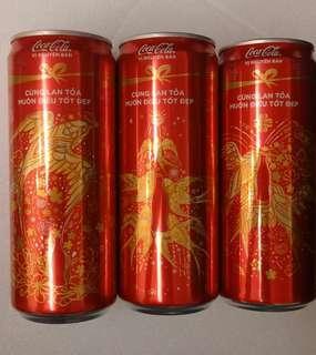 COCA COLA 可口可樂越南新年罐