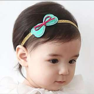 🚚 [In Stock - 3 for $10] Pretty Korean style hair band tie little girl - Petite green bow
