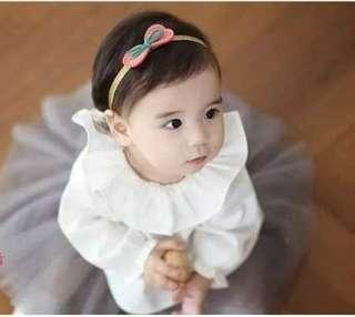🚚 [In Stock - 3 for $10] Pretty Korean style hair band tie little girl - Petite red bow