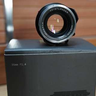 Voigtlander 35mm F1.4 M mount Sony FE Leica