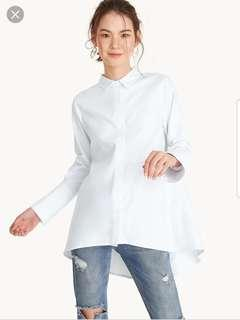 Longline Button Up Shirt