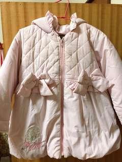彼得兔專櫃款 粉色拉鍊連帽外套
