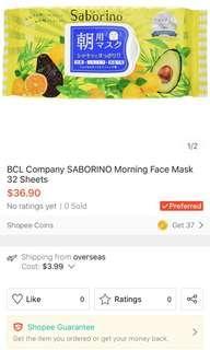 Morning Face Mask Saborino