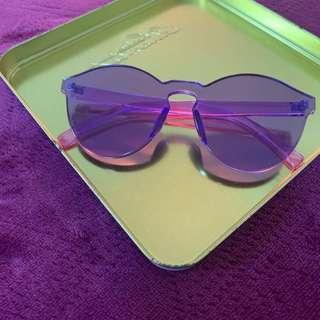 🚚 紫色 墨鏡 太陽眼鏡 裝飾眼鏡 全紫