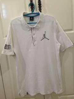 Nike Air Jordan #23 Polo Shirt Big Logo Embroidered Ori