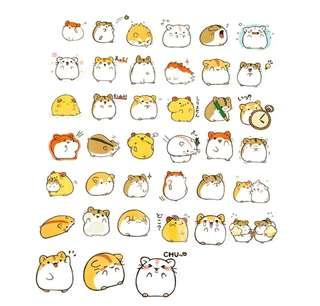 🚚 [INSTOCK] Cute Hamster Stickers