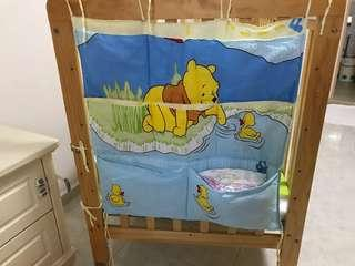 Organizer storage bag for Baby Cot / baby crib