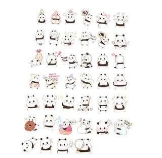 [INSTOCK] Cute Panda Stickers