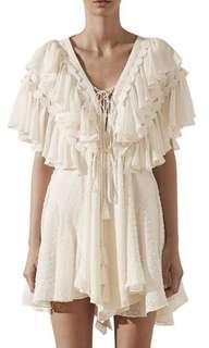 Shona Joy Stella Ruffle Drawstring Mini dress