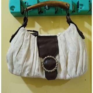 Vintage Suede Bag Handle Kayu (Import)