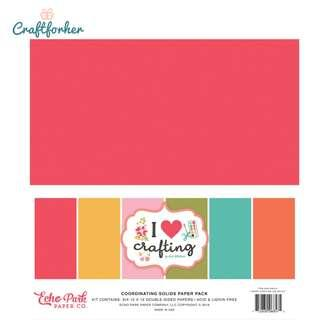 """🚚 ★Kit★ I Love Crafting Solid Color Paper Pack, 12"""" x 12"""" Solid Cardstock Paper, Scrapbooking Craft"""