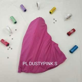 Bustier Lowback Polyester ready stock dustypink