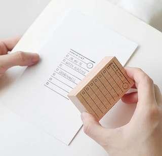 Checklist Stamp