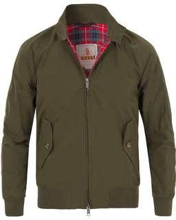 Baracuta G9 Harrington jacket Barbour trickers Alden Alden
