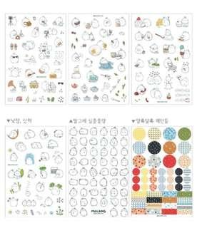 [ INSTOCK] Cute Molang Stickers