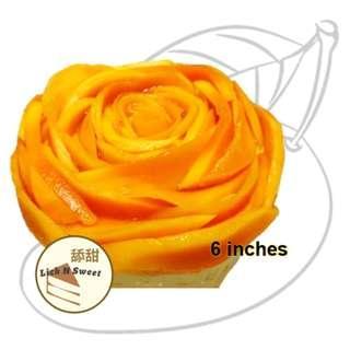芒果芝士蛋糕 Mango Cheese Cake ( 6 inches / 6寸 )