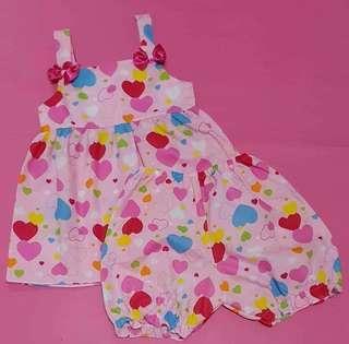 Bloomer set for baby girl