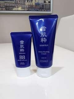 🚚 Kose Sekkisui White Washing Cream & BB Cream