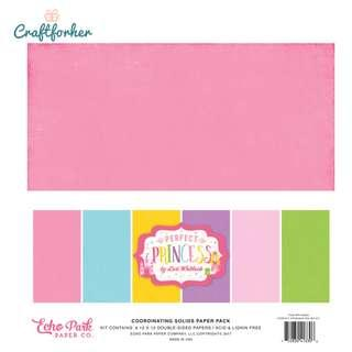 """🚚 ★Kit★ Perfect Princess Solid Color Paper Pack, 12"""" x 12"""" Cardstock Paper, Scrapbooking Craft"""